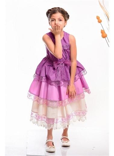 Hilal Akıncı Kids Elbise Mor